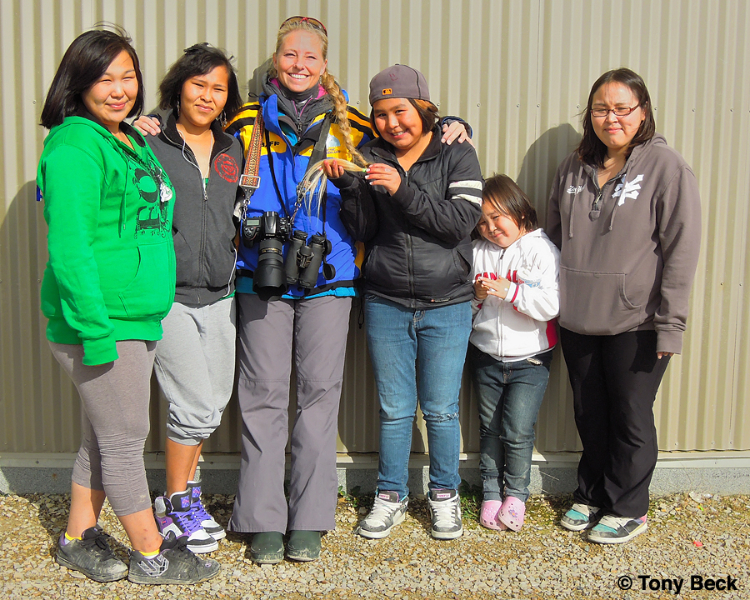 Nina with the children at Cambridge Bay