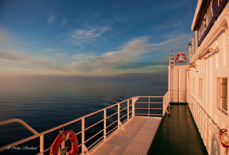 Arctic sunset..