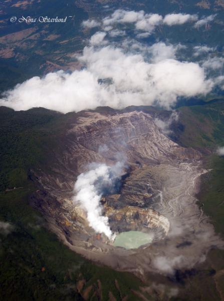 Air photo leaving Costa Rica