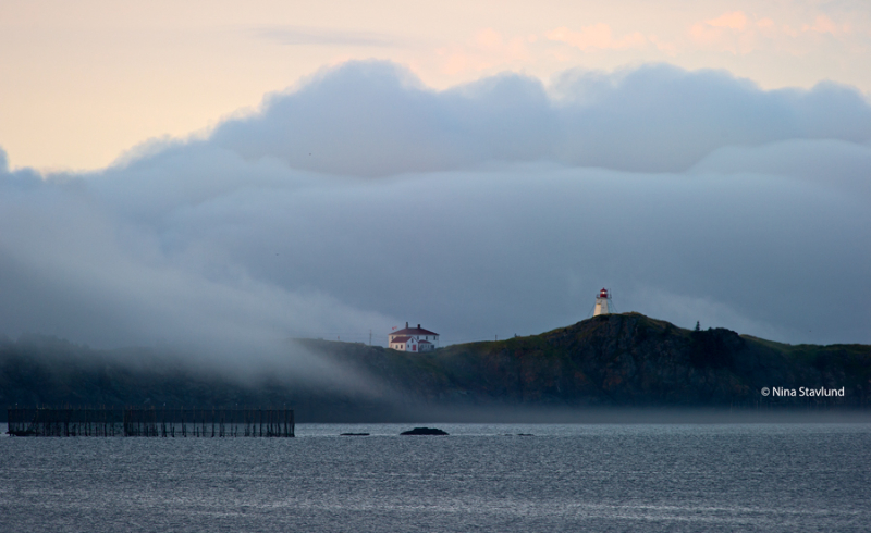 Swallowtail Lighthouse in the fog