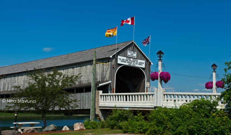Hartland Bridge in Hartland, New Brunswick